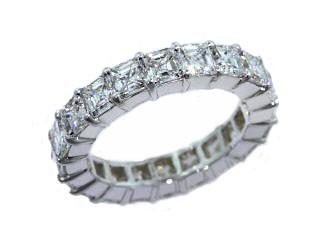 Custom 4.95ctw asscher diamond eternity band