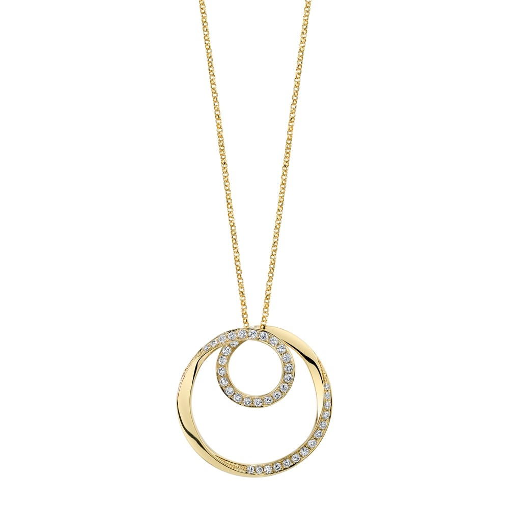 Twist Circle Diamond Pendant