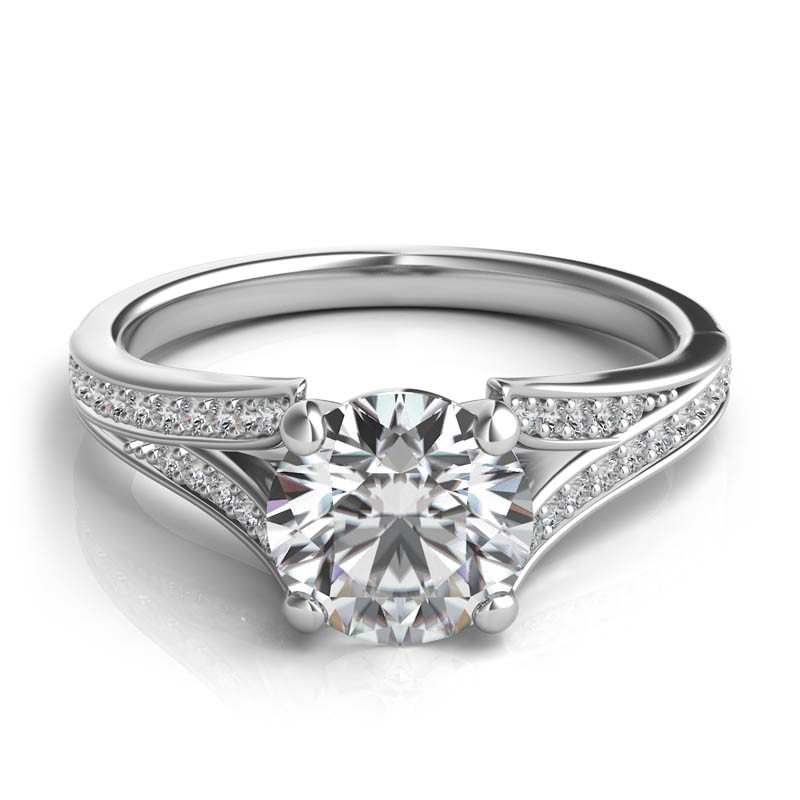 Delicate Split Shank Engagement Ring
