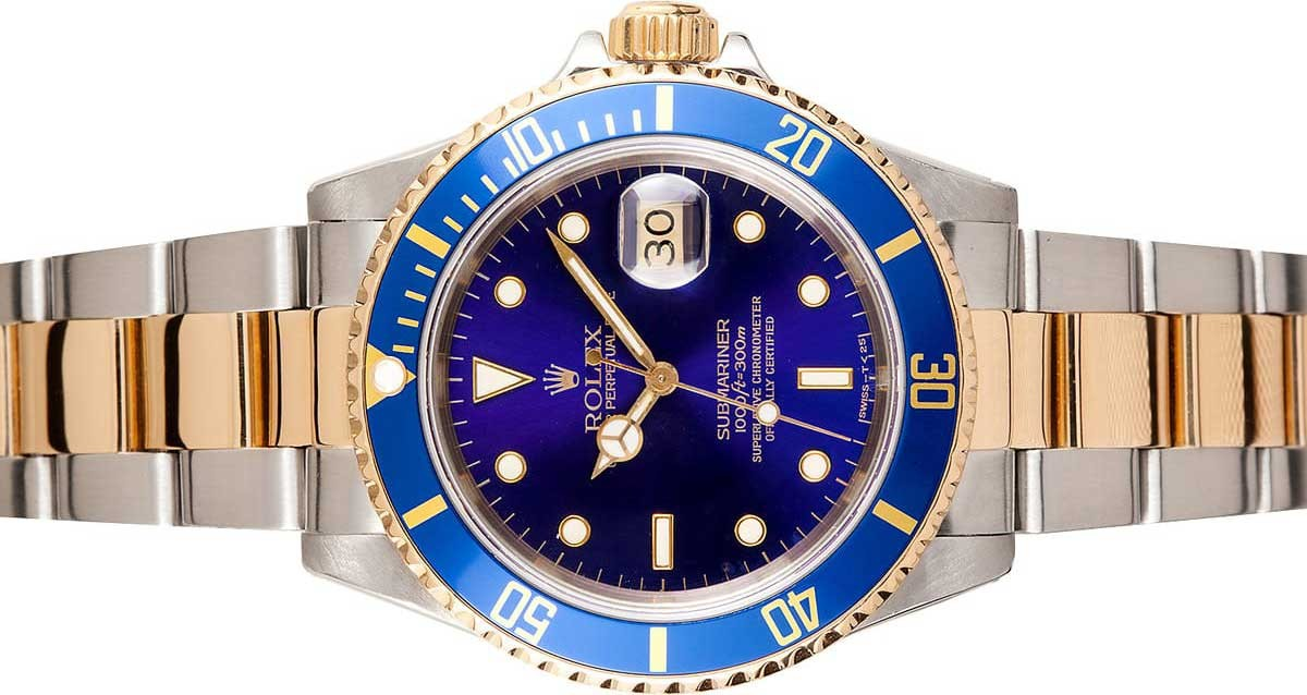 Rolex Submariner blue bezel blue dial two tone