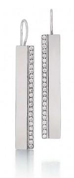 Marika diamond dangle bar earrings