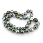 Multi-color Baroque Tahitian pearl necklace