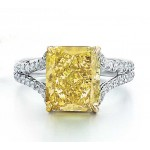 Fancy Intense Yellow Diamond Ring