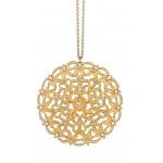 Marika design pierced filigree diamond pendant