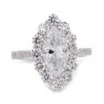 Marquise Diamond Halo Engagement Ring