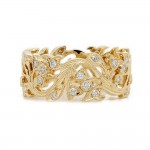 Floral Style Open Diamond Band