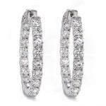 Diamond Hoop Earrings Inside Out