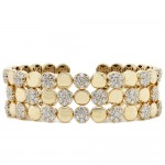 Yellow Gold Diamond Cuff Bracelet
