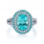 Incredible Paraiba Tourmaline Custom Ring