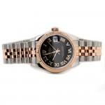 Rolex Datejust 31mm Black Roman Dial Jubilee Bracelet