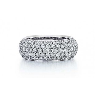 Five Row Diamond Eternity Band