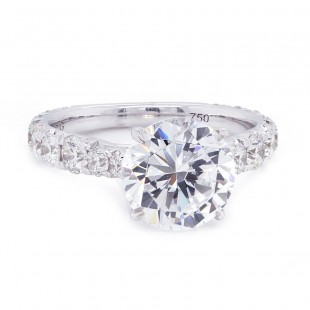 Reverse Taper Diamond Engagement Ring