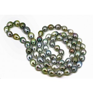 35 inch Tahitian baroque pearl necklace