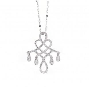Diamond Chandelier Filigree Drop Pendant