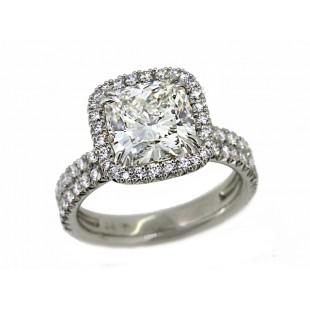 Bundles of Love handmade pave' diamond halo ring