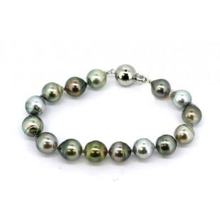 Multi-color Tahitian pearl bracelet