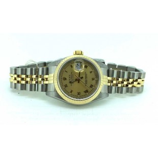 Rolex Lady Datejust in two tone Champagne dial Jubilee bracelet