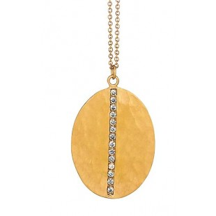 Marika design hammered style diamond pendant