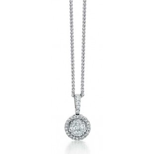 Mosaic Diamond Halo Pendant
