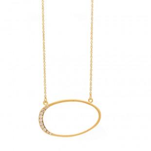 Marika Open Oval Diamond Pendant
