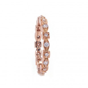 Marquise and Square Diamond Eternity Band