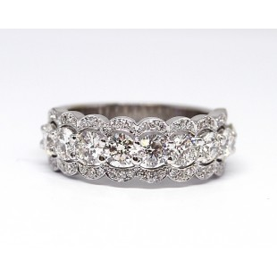 Forevermark Scalloped Diamond Band