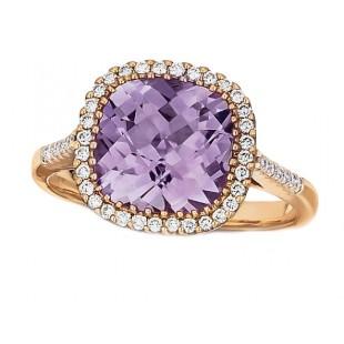 Rose de France Amethyst Ring