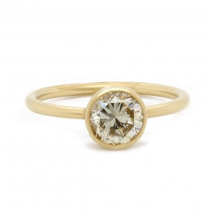 Bezel set diamond solitaire ring