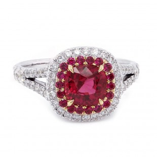 Ruby Ring with Ruby Halo