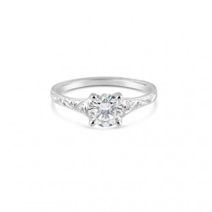 Sholdt Design Hand Engraved Solitaire Ring