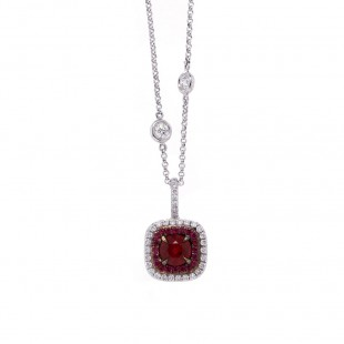 Ruby Halo Pendant