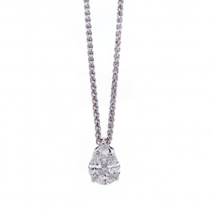 Mosiac Pear Shaped Diamond Pendant