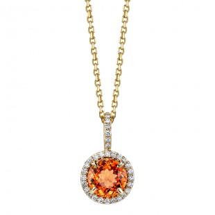 Orange Spessartite Garnet Pendant