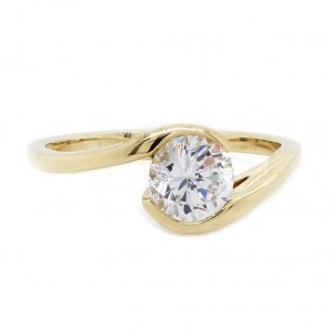 Sholdt Design Bypass Solitaire Ring