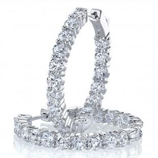 Diamond Hoop Earrings Inside-Out