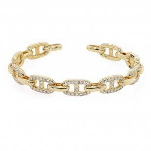 Diamond Link Bangle Bracelet