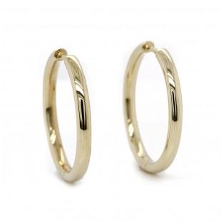 Yellow Gold Hoop Earrings 24mm