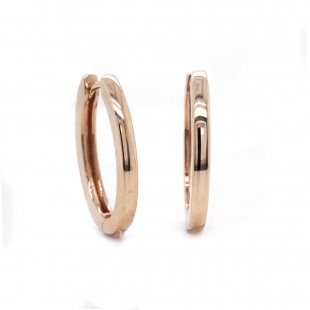 Rose Gold Oval Hoop Earrings