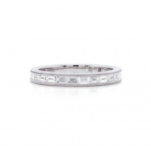 Channel Set Baguette Diamond Band