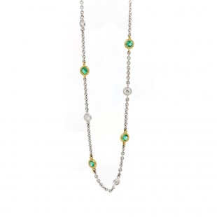 Emerald by the Yard Necklace