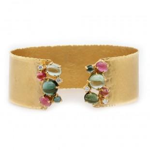 Marika Multi Stone Cuff Bracelet
