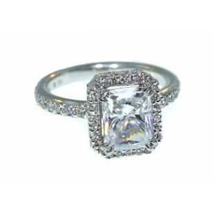 "Michael B design ""Trois"" style engagement ring"