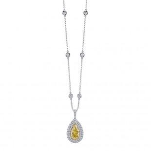 Yellow Pear Diamond Pendant