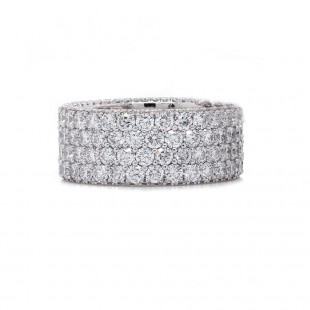 4 Row Diamond Eternity Band