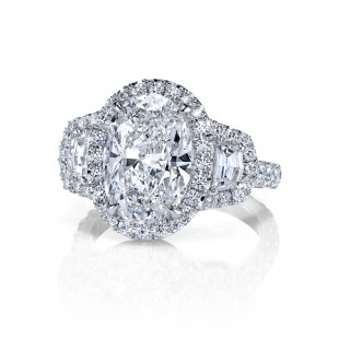 Oval Diamond Halo Ring