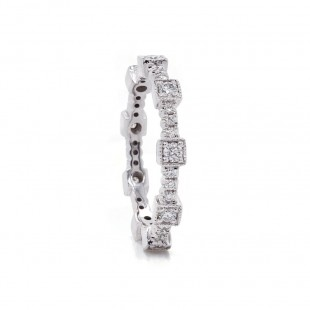 Geometric Diamond Eternity Band