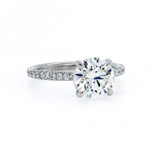 Round Diamond Delicate Engagement Ring