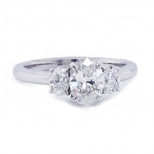 Oval Diamond Three Stone Ring