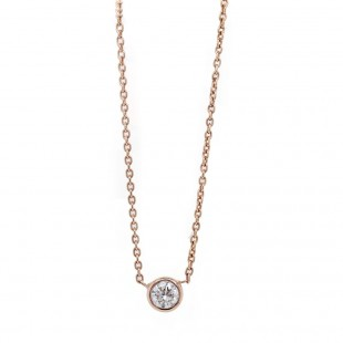 Rose Gold Delicate Diamond Pendant