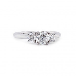 Three Stone Diamond Ring 0.97 t.c.w.